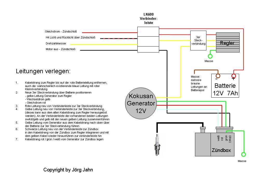 Montageplan für Kokusan : KREIDLER Leichtkrafträder (80ccm ...